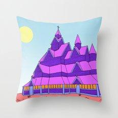 Heddal Stave Church Throw Pillow