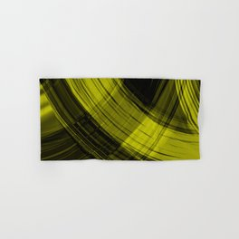 Iridescent arcs of honey curtains of hanging flowing lines on velvet fabric.  Hand & Bath Towel