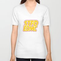 font V-neck T-shirts featuring Font Extra by STUPID ENDEMIC CLOTH