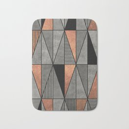 Concrete and Copper Triangles Bath Mat