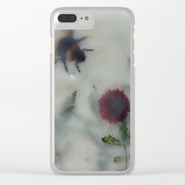 Bee in the Garden (encaustic) Clear iPhone Case