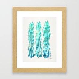 Seafoam Seaweed Framed Art Print