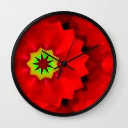 Little redlight-flower Wall Clock