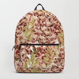 Vintage boho mauve pink dusty green floral Backpack