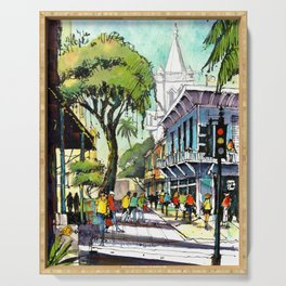 Duval Street, Key West Serving Tray