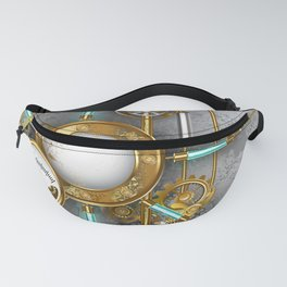 Steampunk Round Banner with Pressure Gauge Fanny Pack