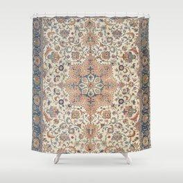 Fine Persia Tabriz Old Century Authentic Colorful Blue Rust Orange Vintage Patterns Shower Curtain