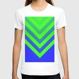 Blue & Green Chevron T-shirt
