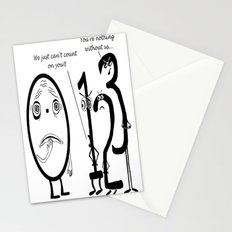 Big Fat Zero or When good numbers go bad Stationery Cards