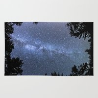 milky way Area & Throw Rugs featuring Milky way  by FiveAcesMedia