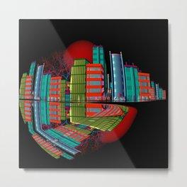 red moon city -2- Metal Print