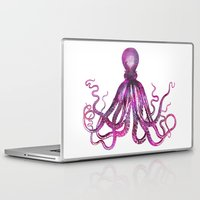 octopus Laptop & iPad Skins featuring Octopus by LebensART