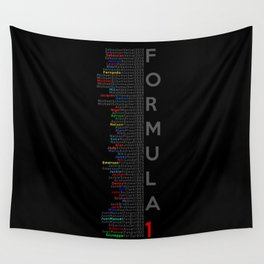 Formula 1 Champions Wall Tapestry
