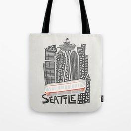 Seattle Cityscape Tote Bag