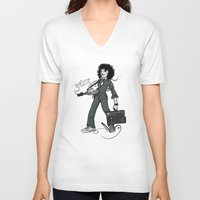 ripley V-neck T-shirts featuring Ripley  by shugmonkey