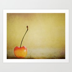 Cherry Pop Art Print
