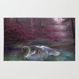 Fantasy Swan Rug