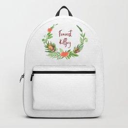 Feminist Killjoy - A Floral Wreath Backpack