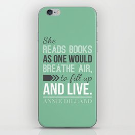 Annie Dillard - Typography Poster iPhone Skin