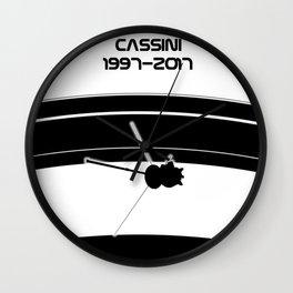 Cassini Grand Finale Wall Clock