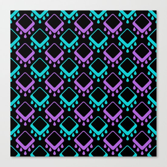 Abstract colorful geometric pattern . Black , Magenta , turquoise . Canvas Print