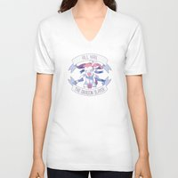 sylveon V-neck T-shirts featuring All Hail Sylveon V2 by Solis