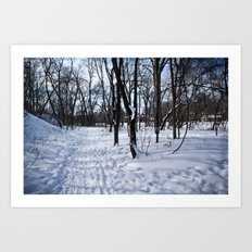 Winter in Minnesota Art Print