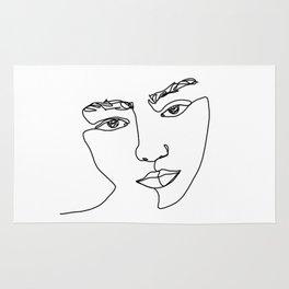 Face one line illustration - Esma Rug