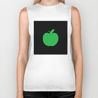 apple Biker Tanks featuring Apple by Mr and Mrs Quirynen