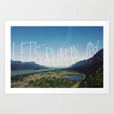 Let's Run Away: Columbia Gorge, Oregon Art Print