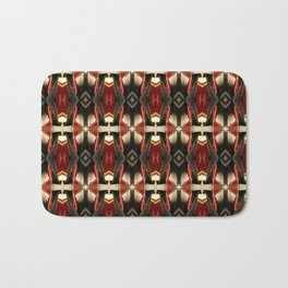 Rich Burgundy Striped Pattern A448b Bath Mat