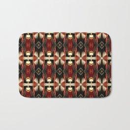 Rich Burgundy Striped Pattern A448b Bath Mat
