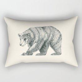 Brown Bear Graphite Study Rectangular Pillow