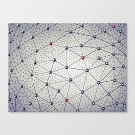 Cryptocurrency network Canvas Print