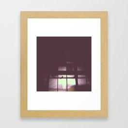 night window Framed Art Print