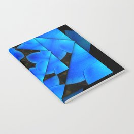 Sparkling Blues Abstract Floral  Notebook
