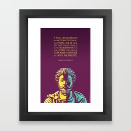 Marcus Aurelius Inspirational Stoic Quote: The Power to Revoke Framed Art Print