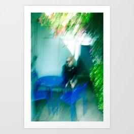 Girl Blur Art Print