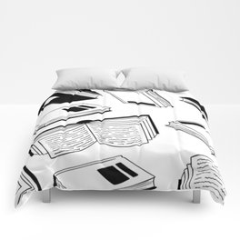 BOOK OBSESSION MONOCHROME PATTERN Comforters