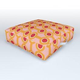 dumbbells yellow  #midcenturymodern Outdoor Floor Cushion