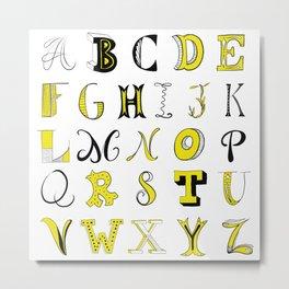 Yellow alphabet Metal Print