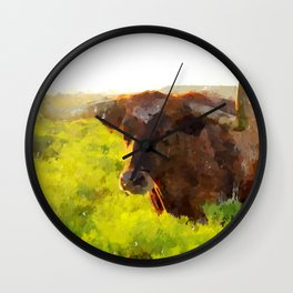 Texas Longhorn 2 Wall Clock