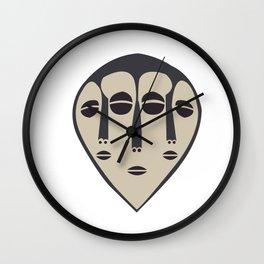 African Tribal Mask No. 5 Wall Clock