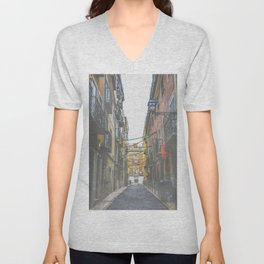 Madrid Streets Unisex V-Neck