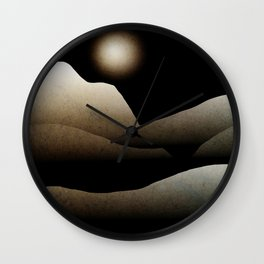 Moonlight Mountain Landscape Wall Clock