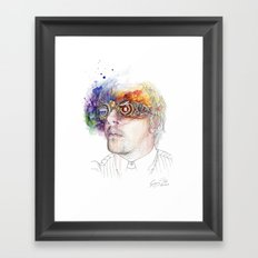 Seeing the world in different colours Framed Art Print
