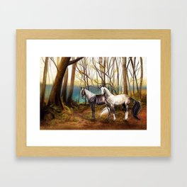 A peaceful place Framed Art Print