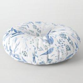 Eucalyptus Pattern - Blue Floor Pillow