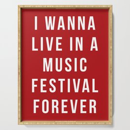 Live Music Festival Quote Serving Tray