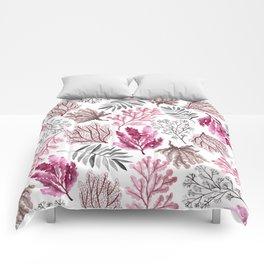 Coastal Watercolor Illustrations Comforters